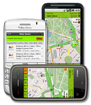 Tourality - Outdoor GPS Game - Android, Nokia, BlackBerry, iPhone